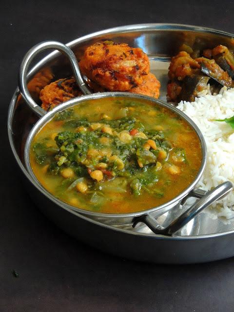 Radish Greens Channadal Kootu