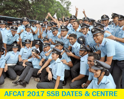 AFCAT 1 2017 SSB Dates, Centre Allotment, Merit List
