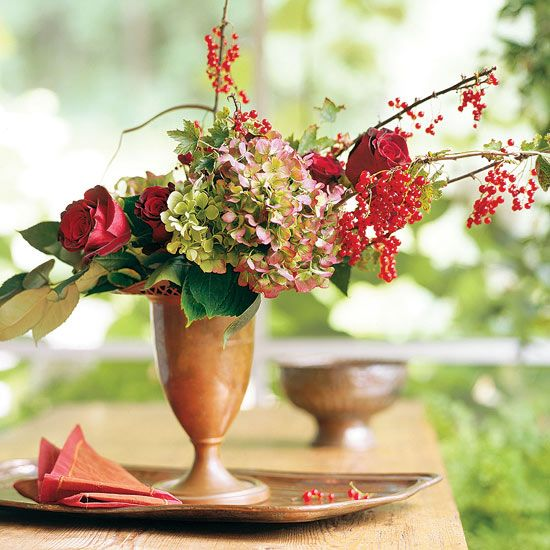 lovely fall flower decoration