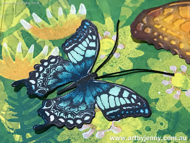 close up of a fantastical ulysses butterfly