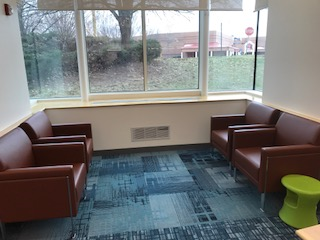 Read alcove next to a large window