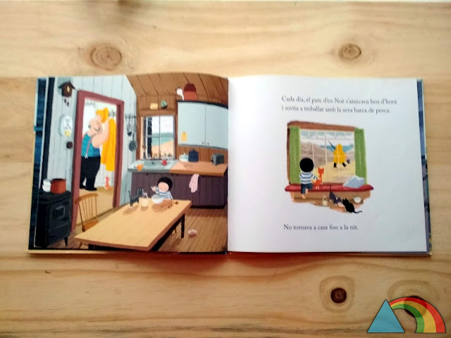 Interior del libro La Ballena de Benji Davies