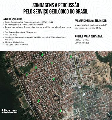Serviço Geológico do Brasil inicia estudo de sondagem no bairro Pinheiro