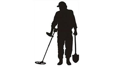 metal detectorist silhouette