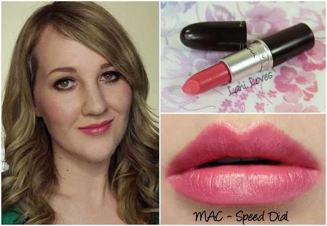 MAC Speed Dial lipstick swatch