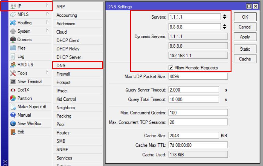 Setup DNS server mikrotik hotspot