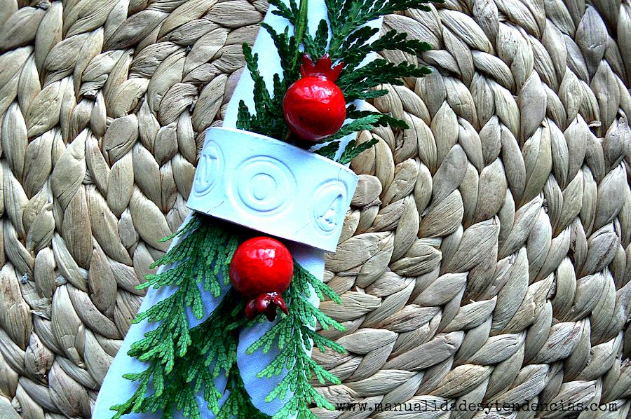 Cómo hacer servilletero de arcilla para Navidad