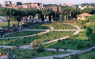 Roseto Comunale di Roma, vista su Circo Massimo e Palatino