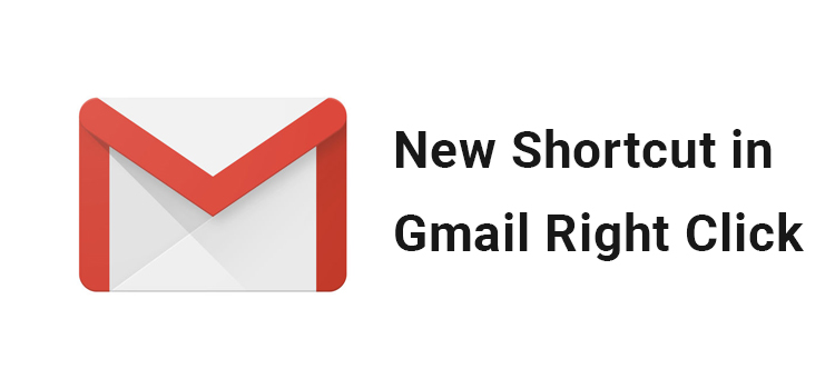 Gmail Right Click