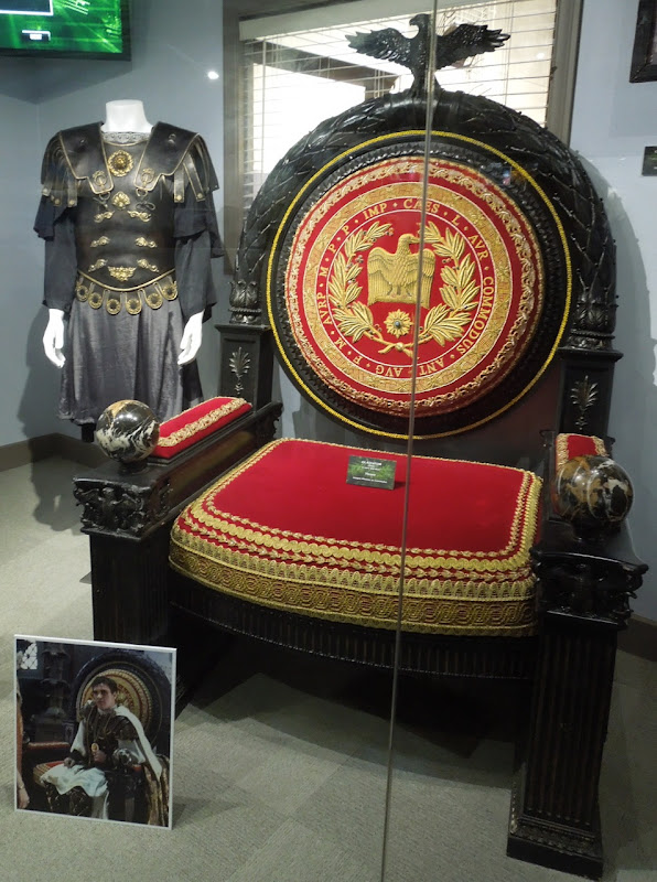 Gladiator movie costume prop exhibit