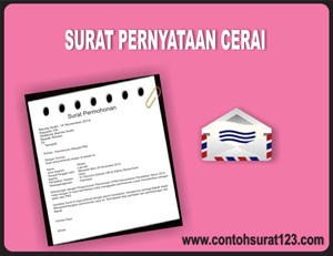 Gambar Contoh Surat Pernyataan Cerai