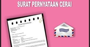 Contoh Surat Pernyataan Cerai Contoh Surat