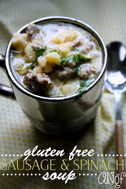 Gluten Free Sausage & Spinach Soup from Anyonita-Nibbles.co.uk
