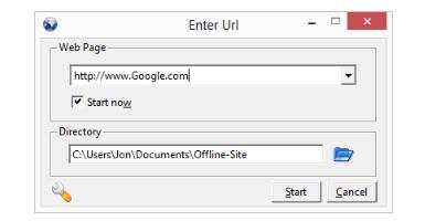 Download full websites to explore offline