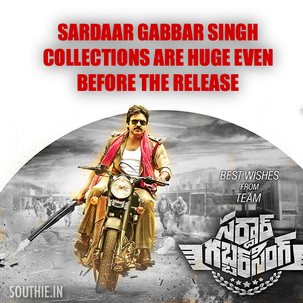 Sardaar Gabbar Singh Collections record before release. Pawan Kalyan and team make huge profits before the release of the movie or even its trailer. Pawan Kalyan Sardaar Gabbar Singh, Southie, Pawan Kalyan Posters, pawan Kalyan in Sardaar gabber Singh, 2016, latest images,
