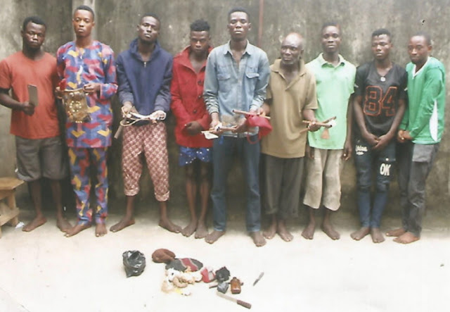 9 fleeing eiye cultists arrested ogun state