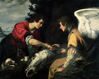 Nomes bíblicos de menino: letra R (Imagem: Tobias e Arcanjo Rafael - Jacopo Vignali)