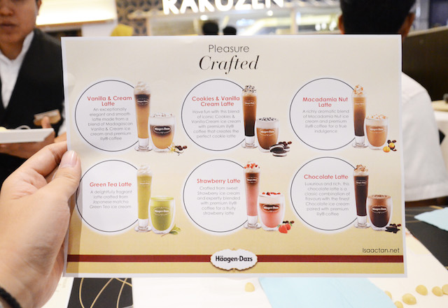All six new flavoured lattes in one page