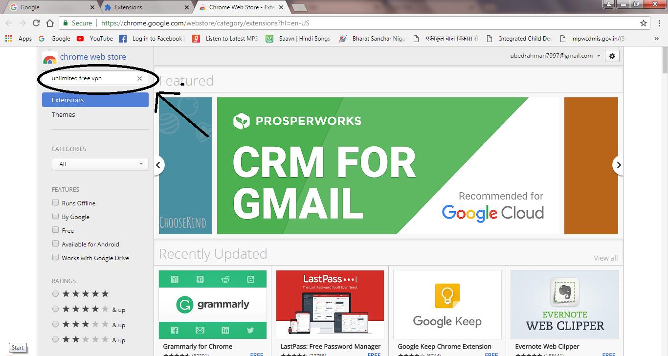 chrome store unblock websites