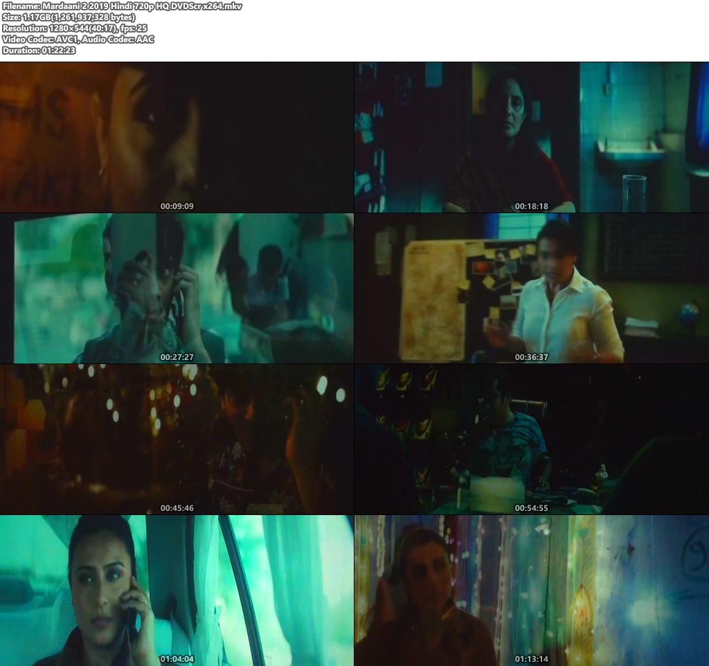 Mardaani 2 2019 Hindi 720p HQ DVDScr x264 | 480p 300MB | 100MB HEVC Screenshot