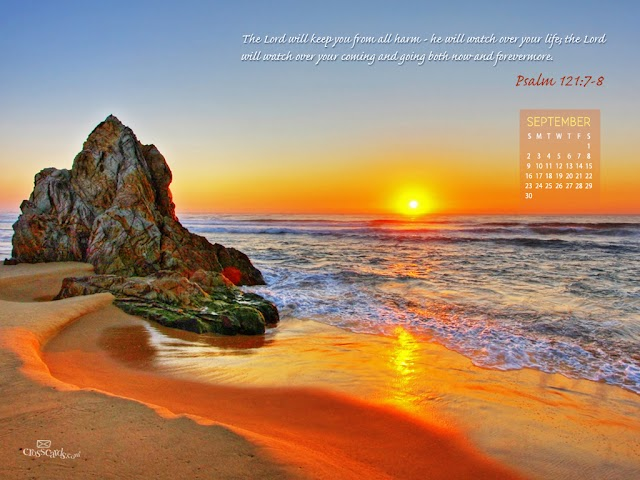September 2012 Calandar wallpaper