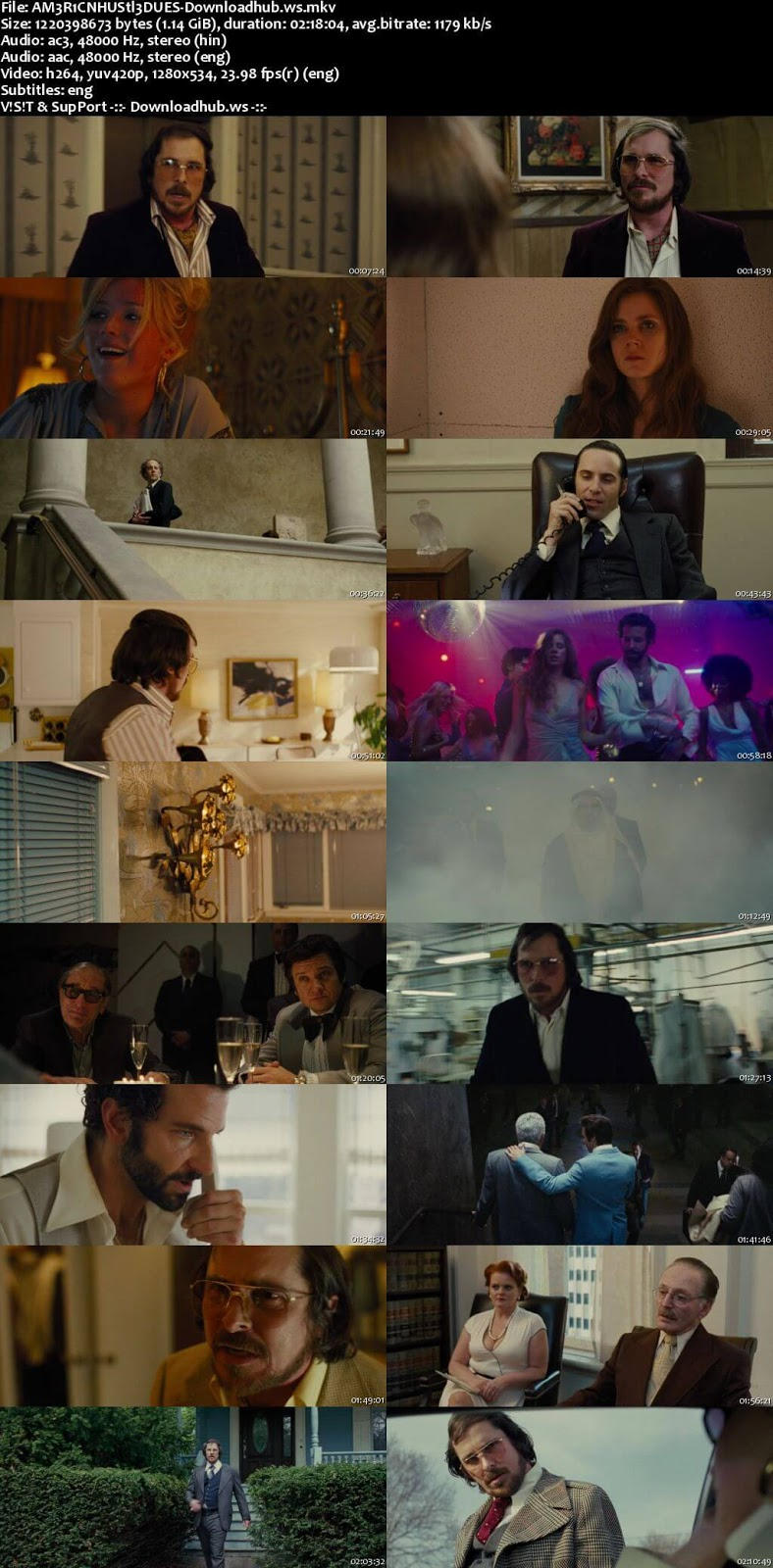 American Hustle 2013 Hindi Dual Audio 720p BluRay Free Download