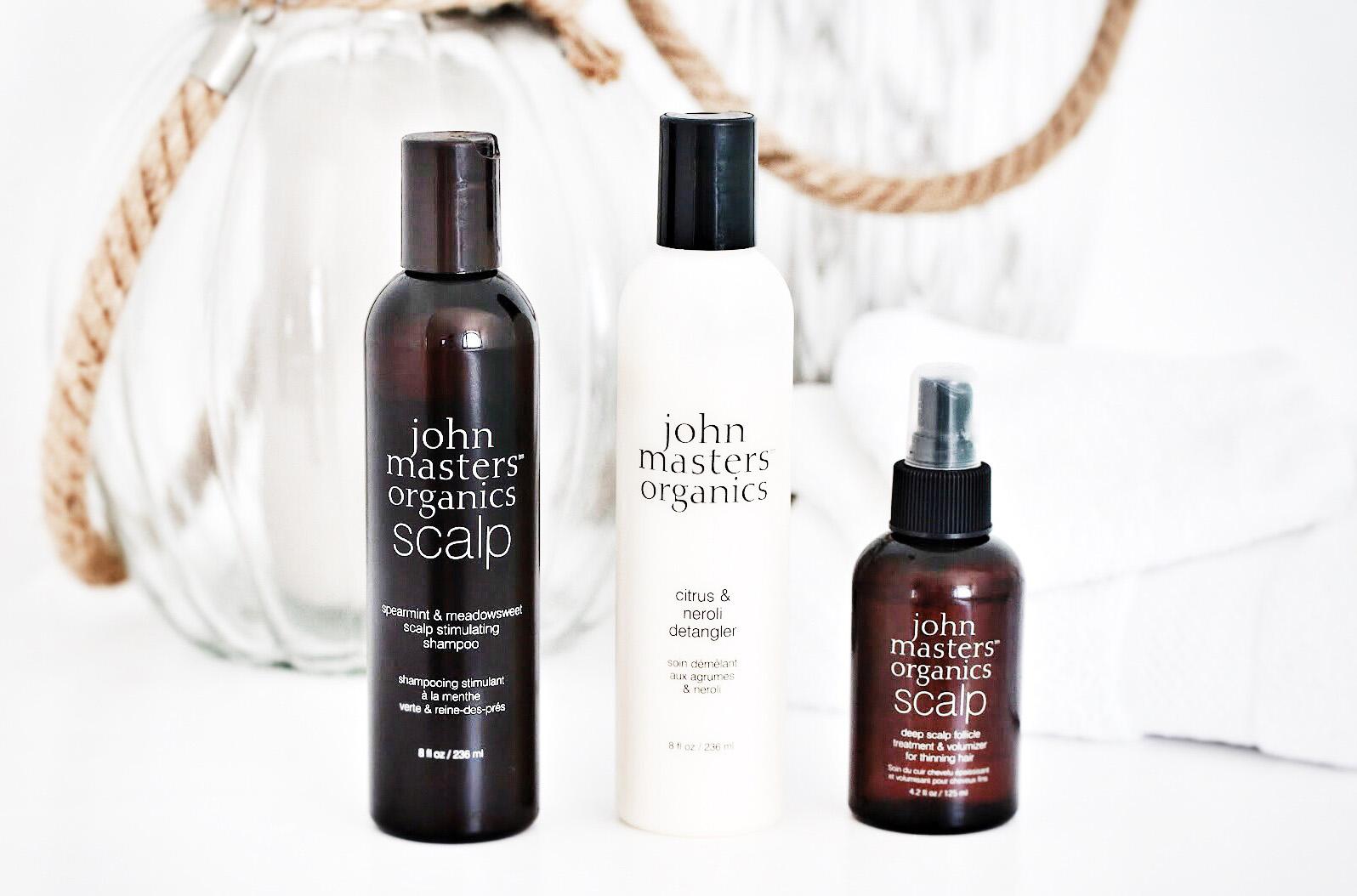 john masters organics rituel stimulant shampooing menthe verte apres shampooing demelant neroli traitement cuir chevelu volume avis test