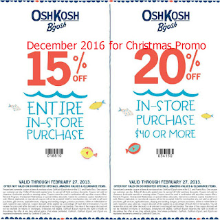 OshKosh B'gosh coupons for december 2016