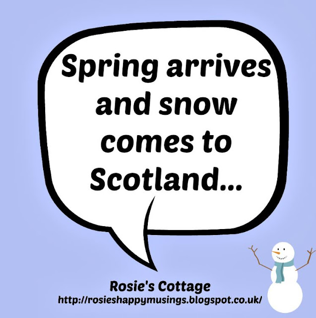 Spring arrives and snow comes to Scotland
