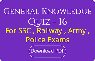 General Knowledge Quiz - 16