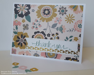 Handmade thank you cards using Paper Studio Hello Darling paper, Avery Elle Oh Happy Day stamps