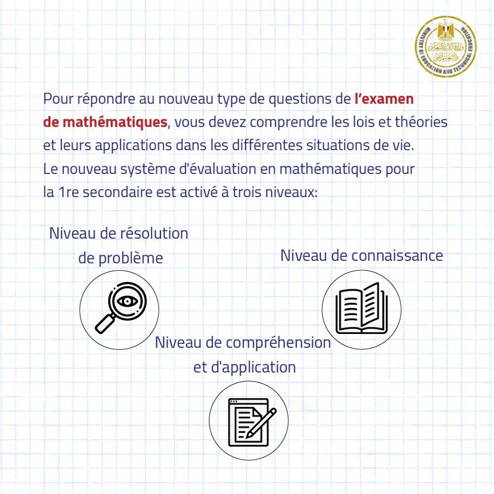 نماذج أسئلة امتحان الرياضيات لطلاب الصف الأول الثانوى مايو 2019 من الوزارة 12