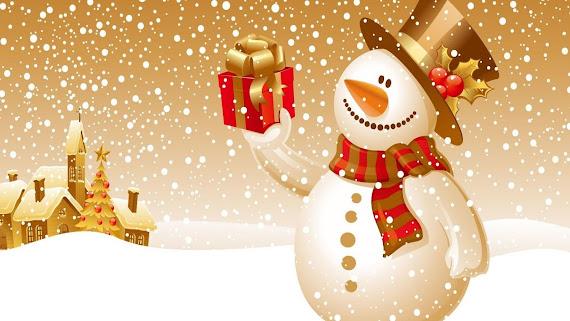 download besplatne Božićne pozadine za desktop 2560x1440 čestitke blagdani Merry Christmas snjegović