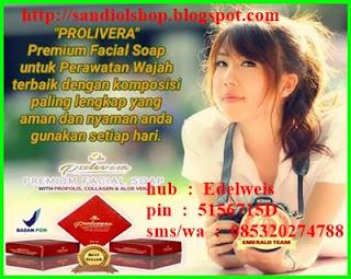 khasiat, manfaat dan kandungan sabun prolivera, pemesanan hubungi edelweis 085721192020 pin D54D47D4