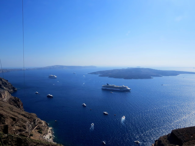 View from Fira, Santorini