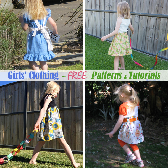 Free resources, sites, patterns and tutorials for sewing clothing for girls - Threading My Way