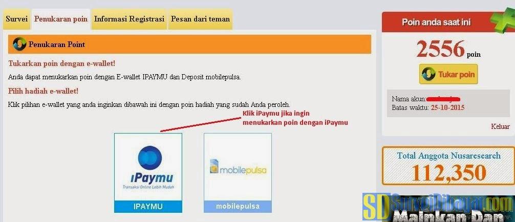 Pilih tipe provider e-wallet | Survei Dibayar