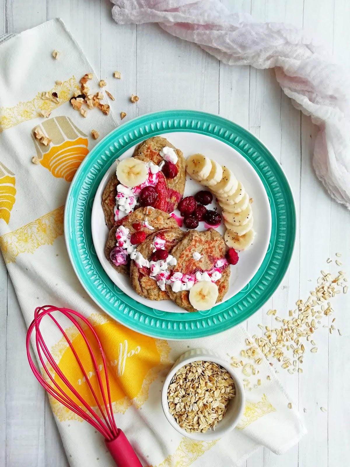 Śniadaniowe placki bananowe bez cukru