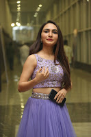 Actress Dhriti Pos in Purple Lehnga Lehenga Choli at Keshava Telugu Movie Audio Launch .COM 0007.jpg