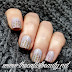 Twinsie Tuesday: Grey and Gold Striped Manicure