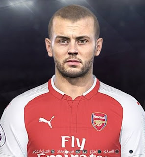 PES 2018 Faces Jack Wilshere by Facemaker Ahmed El Shenawy