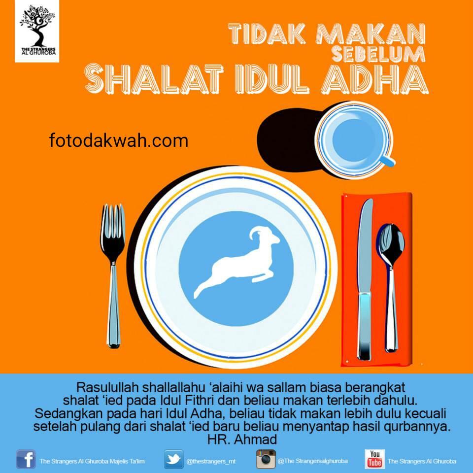 Anjuran Tidak Makan Sebelum Sholat Idul Adha
