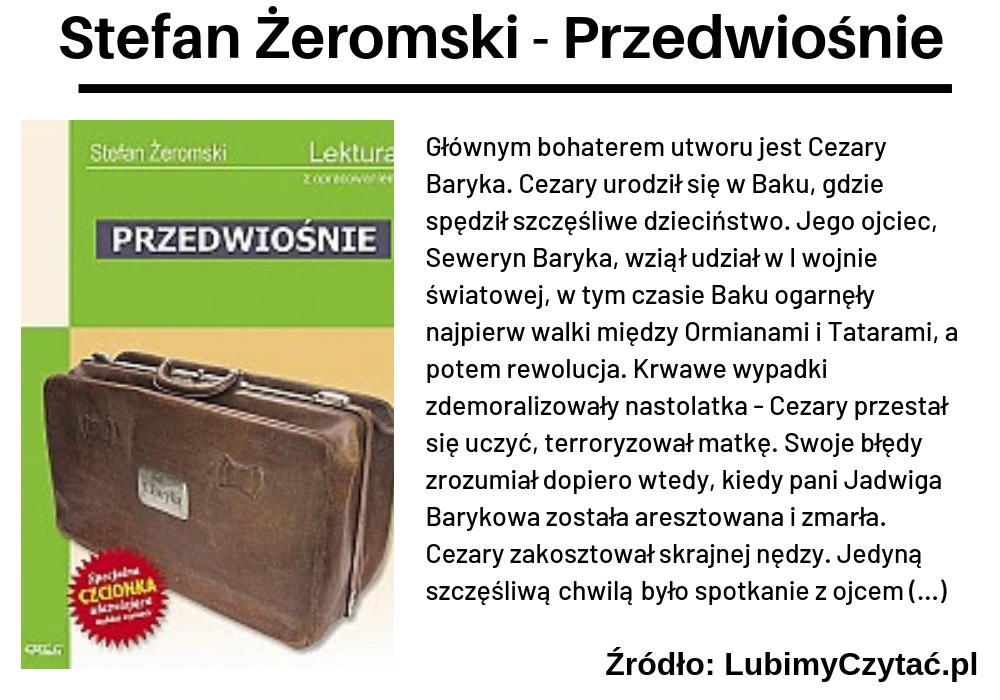 Stanisław Żeromski, Przedwiośnie, TOP 10, Marzenie Literackie