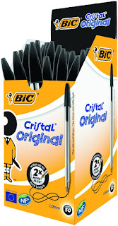 Excellent pens, BIC Cristal Original 1.0 mm Ball Pen – Black, Pack of 50 , £7.91