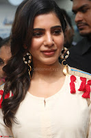 Samantha Ruth Prabhu Smiling Beauty in White Dress Launches VCare Clinic 15 June 2017 040.JPG
