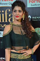 Ritika Singh in a Ethnic Deep Neck Dark Green Choli Ghagra at IIFA Utsavam Awards March 2017 ~ 005.JPG