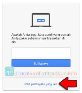 lupa kata sandi gmail di hp android