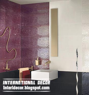 Bright Purple Tiles For Bathroom Wall
