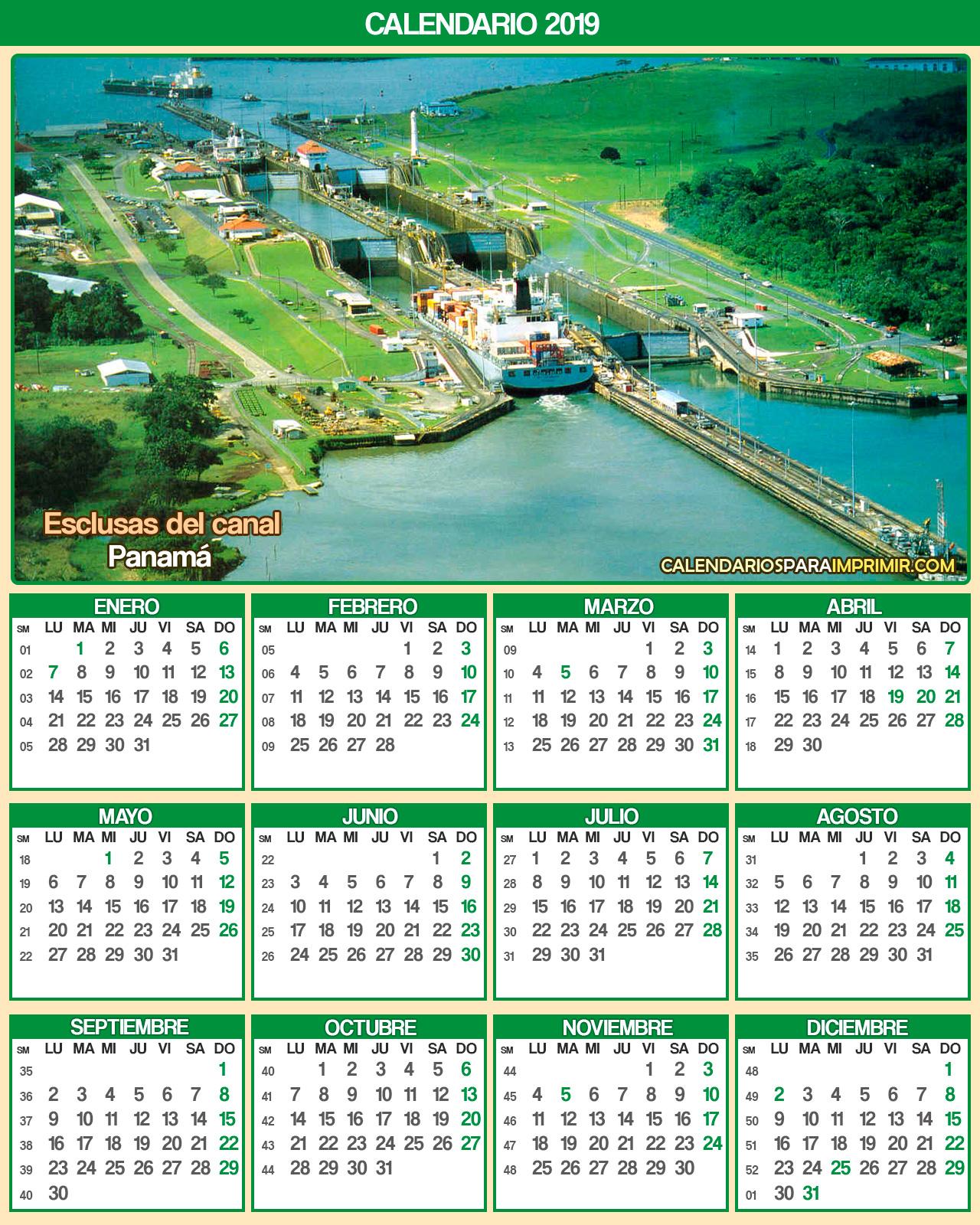 Calendario Panama 2019 Con Festivos.Calendarios De Panama 2019 Calendarios Para Imprimir 2019