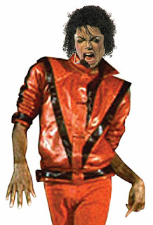 Michael Jackson in Thriller outfit